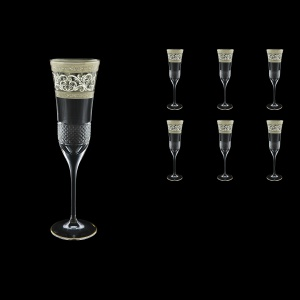 Fiesole CFL FASK Champagne Flutes 170ml 6pcs in Allegro Platinum Light Decor (65-1/832/L)