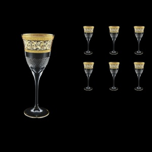 Fiesole C2 FALK Wine Glasses 282ml 6pcs in Allegro Golden Light Decor (65-831/L)