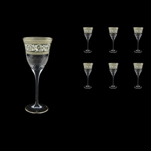 Fiesole C3 FASK Wine Glasses 190ml 6pcs in Allegro Platinum Light Decor (65-1/830/L)