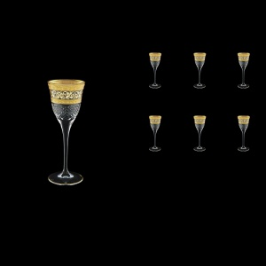 Fiesole C5 FALK Liqueur Glasses 70ml 6pcs in Allegro Golden Light Decor (65-829/L)