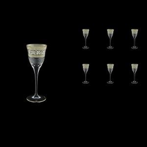 Fiesole C5 FASK Liqueur Glasses 70ml 6pcs in Allegro Platinum Light Decor (65-1/829/L)
