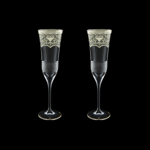 Fiesole CFL FESK Champagne Flutes 170ml 2pcs in Flora´s Empire P. Crystal (20-1/823/2/L)