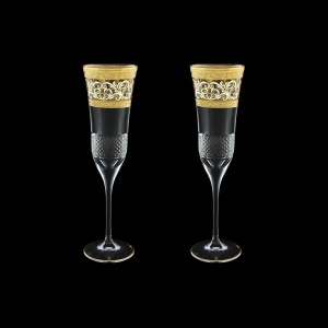 Fiesole CFL FALK Champagne Flutes 170ml 2pcs in Allegro Golden Light Decor (65-832/2/L)