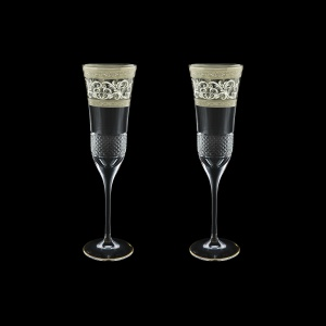 Fiesole CFL FASK Champagne Flutes 170ml 2pcs in Allegro Platinum Light D. (65-1/832/2/L)