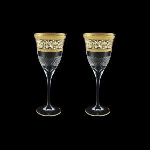 Fiesole C2 FALK Wine Glasses 282ml 2pcs in Allegro Golden Light Decor (65-831/2/L)