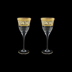 Fiesole C3 FALK Wine Glasses 190ml 2pcs in Allegro Golden Light Decor (65-830/2/L)