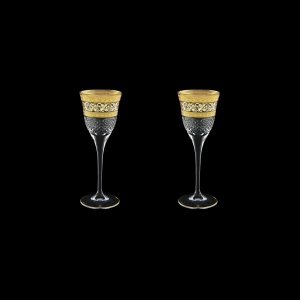 Fiesole C5 FALK Liqueur Glasses 70ml 2pcs in Allegro Golden Light Decor (65-829/2/L)