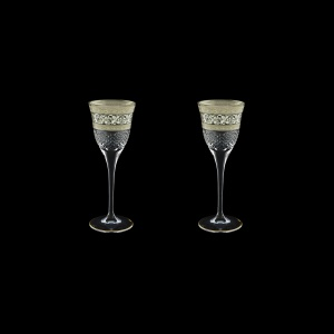 Fiesole C5 FASK Liqueur Glasses 70ml 2pcs in Allegro Platinum Light Decor (65-1/829/2/L)