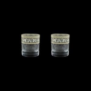 Fiesole B2 FASK Whisky Glasses 290ml 2pcs in Allegro Platinum Light Decor (65-1/833/2/L)