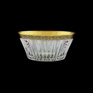 Timeless MV TMGB SKLI Bowl d24,5cm 1pc in Lilit Golden Black Decor+SKLI (31-109/bKLI)
