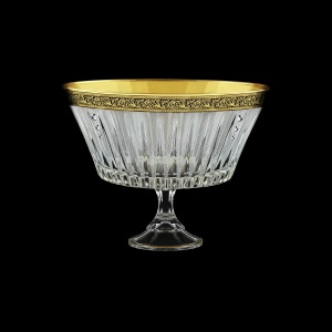 Timeless MVN TMGB SKCR Bowl d24,5cm 1pc in Lilit Golden Black Decor+SKCR (31-116/bKCR)