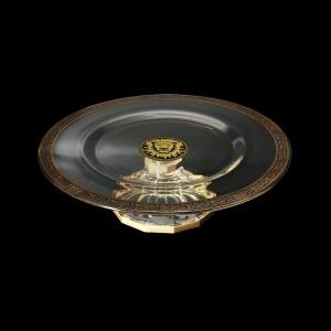 Rialto CPA ROGB Cake Plate w/F d35cm 1pc in Lilit&Leo Golden Black Decor (41-692)