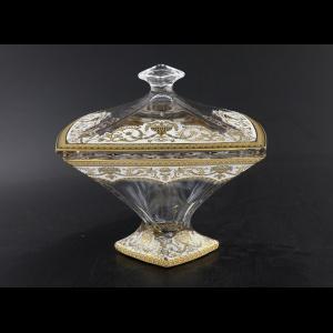 Bohemia Quadro DO QEGW Dose d22,5cm 1pc in Flora´s Empire Golden White Decor (21-184)