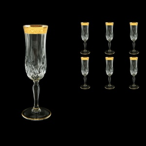 Opera CFL ONGC Champagne Flutes 130ml 6pcs in Romance Golden Classic Decor (33-235)
