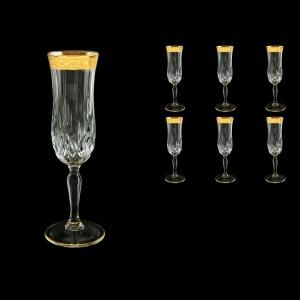 Opera CFL ONGC Champagne Flutes 130ml 6pcs in Romance Golden Classic Decor (33-235)