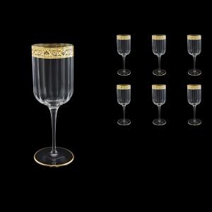 Bach C2 BNGL Wine Glasses 400ml 6pcs in Romance Golden Bright Decor (33-885/BT)