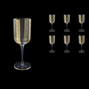 Bach C2 BNGL Wine Glasses 400ml 6pcs in Romance Golden Bright Decor (33-886/BT)
