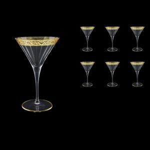 Bach CMT BNGL Martini Glasses 260ml 6pcs in Romance Golden Bright Decor (33-889/BT)
