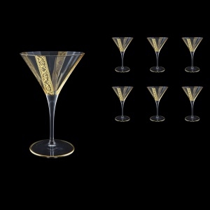 Bach CMT BNGL Martini Glasses 260ml 6pcs in Romance Golden Bright Decor (33-890/BT)