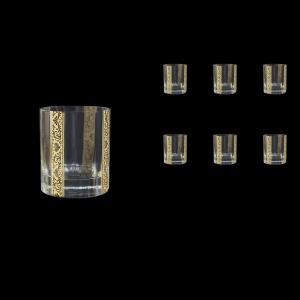 Bach B2 BNGL Whisky Glasses 335ml 6pcs in Romance Golden Bright Decor (33-892/BT)