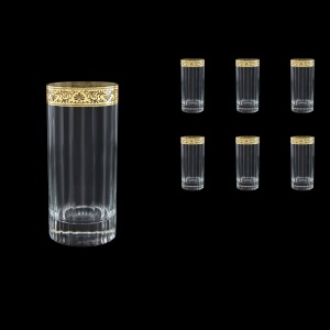 Bach B0 BNGL Water Glasses 480ml 6pcs in Romance Golden Bright Decor (33-893/BT)