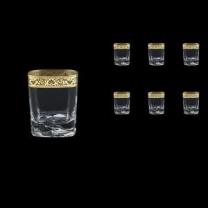 Strauss Rock B2 SNGL Whisky Glasses 400ml 6pcs in Romance Golden Bright Decor (33-902/BT)