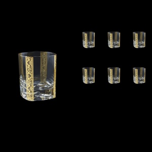 Strauss Rock B2 SNGL Whisky Glasses 400ml 6pcs in Romance Golden Bright Decor (33-903/BT)