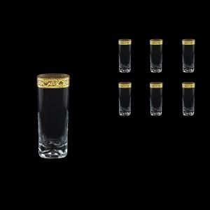 Strauss Rock B0 SNGL Water Glasses 440ml 6pcs in Romance Golden Bright Decor (33-904/BT)