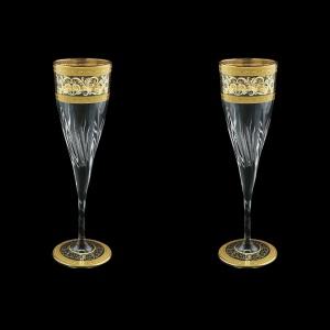 Fluente CFL FALK D Champagne Flutes 190ml 2pcs in Allegro Golden Light Decor+D (66-751/2L)