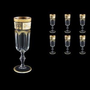 Provenza CFL F0016 Champagne Flute 160ml 6pcs in Diadem Golden Black (F0016-0010)