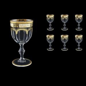 Provenza C2 F0016 Wine Glasses 230ml 6pcs in Diadem Golden Black (F0016-0012)
