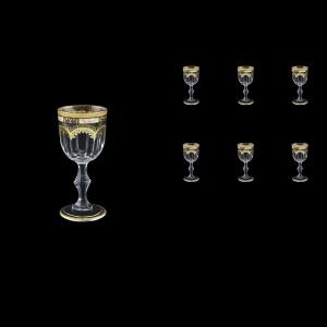 Provenza C5 F0016 Liqueur Glasses 50ml 6pcs in Diadem Golden Black (F0016-0015)