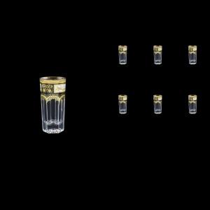 Provenza B5 F0016 Liqueur Tumblers 50ml 6pcs in Diadem Golden Black (F0016-0005)