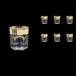 Provenza B2 F0016 Whisky Glasses 280ml 6pcs in Diadem Golden Black (F0016-0002)