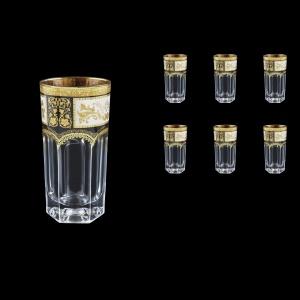 Provenza B0 F0016 Water Glasses 370ml 6pcs in Diadem Golden Black (F0016-0000)