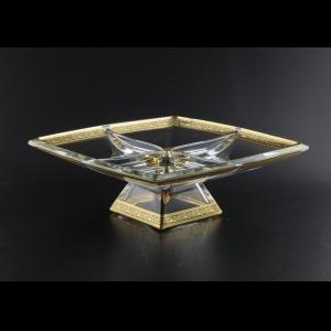 Ducale MDD DMGB Four-Bowl w/F 28x28cm 1pc in Lilit Golden Black Decor (31-946)