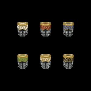 Provenza B2 PEG6 Whisky Glasses 280ml 6pcs in Fl. Empire. G. 6clrs (21/22/23/24/25/26-527)
