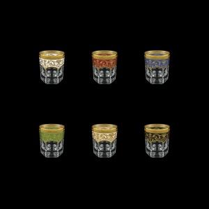Provenza B2 PEG6 Whisky Glasses 280ml 6pcs in Fl. Empire. G. 6clrs (21/22/23/24/25/26-527)