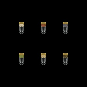 Provenza B5 PEG6 Liqueur Tumblers 50ml 6pcs in Fl. Empire G. 6clrs (21/22/23/24/25/26-520)