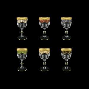 Provenza C2 PEG6  Wine Glasses 230ml 6pcs in Fl. Empire G. 6clrs (21/22/23/24/25/26-523)