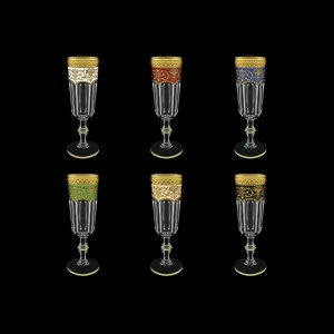 Provenza CFL PEG6 Champagne Flts 160ml 6pcs in Fl. Empire G. 6clrs (21/22/23/24/25/26-524)