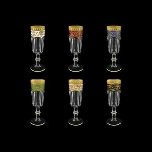 Provenza CFL PEG6 Champagne Flts 160ml 6pcs in Fl. Empire G. 6clrs (21/22/23/24/25/26-524)