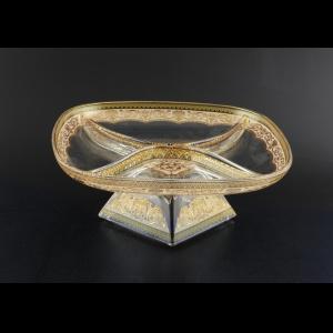 Fenice MDD PELI Four-Bowl w/F 25x25cm 1pc in Flora´s Empire Gold. Ivory Light (25-955/L)