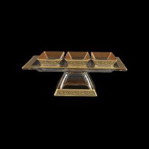 Torcello Set QTD+MM TMGB w/F 24x18cm+13x6cm 1+3pcs in Lilit Golden Black Decor (31-961)