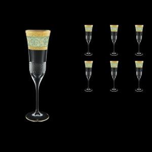 Fiesole CFL FALT Champagne Flutes 170ml 6pcs in Allegro G. Turquoise Light D. (6T-832/L)