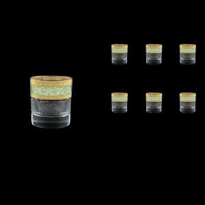 Fiesole B2 FALT Whisky Glasses 290ml 6pcs in Allegro Golden Turquoise Light D. (6T-833/L)