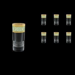 Fiesole B0 FALT Water Glasses 360ml 6pcs in Allegro Golden Turquoise Light D. (6T-834/L)