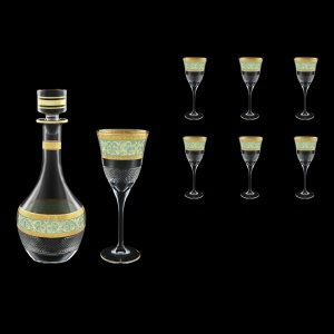 Fiesole Set RD+C2 FALT 900ml+6x282ml in Allegro Gold. Turquoise Light Decor (6T-837/831/L)