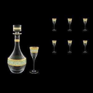 Fiesole Set RD+C5 FALT 900ml+6x70ml in Allegro Gold. Turquoise Light Decor (6T-837/829/L)