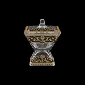 Torcello DOD TELB Dose w/F 14x14cm 1pc in Flora´s Empire Golden Black Light (26-963/L)